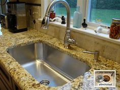 Seamless Sink in granite kitchen setting large single bowl - traditional - kitchen sinks - cincinnati - by Create Good. Not sure if I'll do granite in the next house. Single Bowl Kitchen Sink, Kitchen Sets, Home Decor Kitchen, Interior Design Kitchen, New Kitchen, Home Kitchens, Lofts, Traditional Kitchen Sinks, Granite Kitchen Sinks
