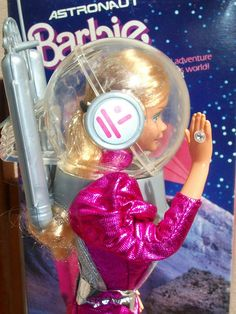 Astronaut Barbie...because it's really important to fully accessorize when you go to space!