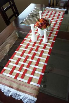 DIY No-Sew Burlap Table Runner DIY Burlap DIY Crafts