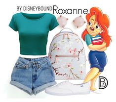 Roxanne - A Goofy Movie - DIsneybound Disney Bound Outfits Casual, Cute Disney Outfits, Disney Themed Outfits, Disneyland Outfits, Cute Outfits, Disney Clothes, Disney Costumes For Women, Disney Characters Costumes, Cartoon Outfits