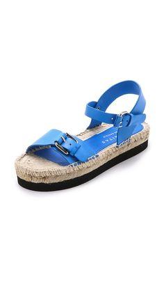 Paloma Barcelo Double Strap Espadrille Sandals