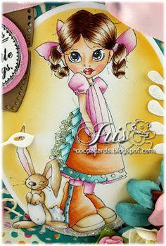 skin: E0000-000-00-11 R20-00 lips: R24-21 hair: E29-25-31-50 pink: RV55-52-00-000 orange: YR18-15-12-000-0000 teal: BG18-57-53-000-0000 green: G20-24 bunny: C4-2-00, E35-33-31, R20-000 shoes: E33-31