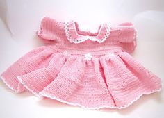 Petite Pink Princess Preemie Crocheted Dress for by DeeDeesDetails, $49.95