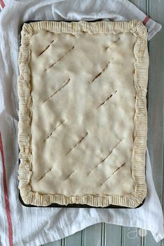 Brown butter vanilla bean brandy pear pie