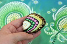 Agatha hand-painted stone by AnjaSonneborn on Etsy