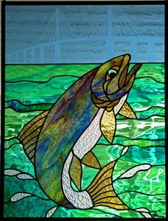 stained glass fish - IDEA FOR INTERIOR