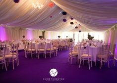 Purple carpet in the marquee! Chris Thornton Photography x