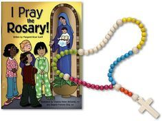 Happy Feast of Our Lady of the Rosary! This cute set is perfect for little one's to pray along during the family rosary! Does your little one have their own special rosary? http://www.catholicchild.com/I-PRAY-THE-ROSARY-BOOK-AND-ROSARY-SET/productinfo/10759/