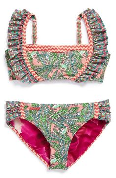 The sweetest little two-piece bathing suit. How cute is this?