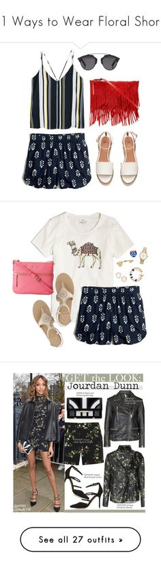 """""""21 Ways to Wear Floral Shorts"""" by polyvore-editorial ❤ liked on Polyvore featuring Floralshorts, waytowear, Madewell, Christian Dior, Reiss, Kendra Scott, J.Crew, Sarah Chloe, Jack Rogers and Kate Spade"""