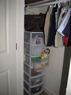 How to organize baby stuff. Now why didn't I think of this.