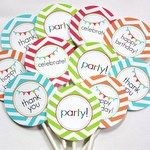 Free chevron birthday printables!