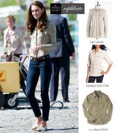 Kate Middleton Style. Shop Burberry jersey shirt replikates