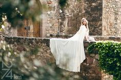 White bridal cloak white ivory satin cape with by CostureroReal, €135.00