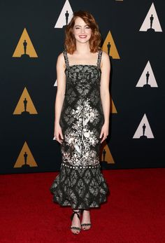 Actress Emma Stone attends the Academy of Motion Picture Arts and Sciences' 8th annual Governors Awards.
