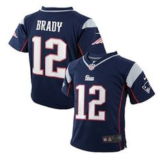 Official New England Patriots ProShop - Toddler Nike Tom Brady Jersey-Navy