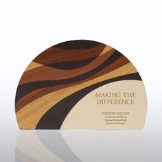 Round Natural Wood Trophy