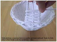 Výsledok vyhľadávania obrázkov pre dopyt pletenie z papiera košík