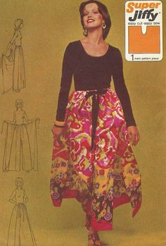 Vintage 70s Simplicity Pattern 5082 Womens Super by CloesCloset