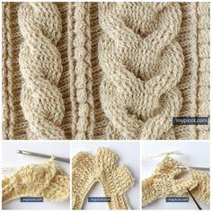 Вяжем косы крючком Gilet Crochet, Crochet Cable, Crochet Cardigan Pattern, Crochet Shawl, Free Crochet, Crochet Stitches Chart, Crochet Borders, Stitch Patterns, Crochet Patterns