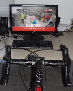 Indoor cycling set up
