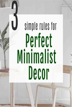 If you are an aspiring minimalist these 3 rules for a minimalist home will inspire you on your minimalism decor and design journey.   Simple interior design tips to simplify your home and make it look, stylish, modern and spacious as well as airy and uncluttered.  #minimalism #interiordesign #home #abeautifulspace Interior Work, Simple Interior, Minimalist Interior, Interior Design Tips, Minimalist Home, Beautiful Space, Beautiful Homes, Minimal Decor, Home Hacks