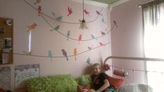 Customer photo of patterned birds on a wire!