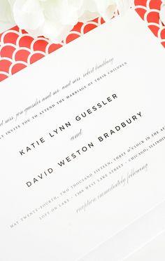 Modern motif | Shine Wedding Invitations