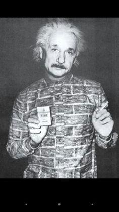 Albert Einstein and his smoke ~~