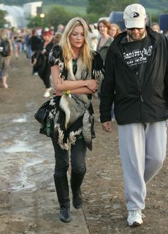 The cult of festival fashion is born: Kate Moss . Glastonbury, 2004.