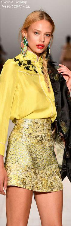 Cynthia Rowley Resort 2017 - EE Fashion 2017, High Fashion, Fashion Dresses, Womens Fashion, Fashion Trends, Cool Outfits, Casual Outfits, Jaune Orange, Yellow Fashion