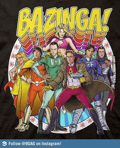 Superhero Big Bang Theory | Bazinga!