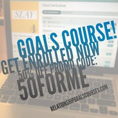 Slay it! Limited time only become a part of the Relationship Goals movement for 50% off using promo code: 50FORME  take the course and be a part of growing the relationship goals community! Let's gooooo!