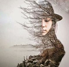 Stunning double exposure in Photoshop Double Exposition, Exposition Multiple, Exposition Photo, Photography Projects, Creative Photography, Portrait Photography, Photography Flowers, Digital Photography, Forest Photography