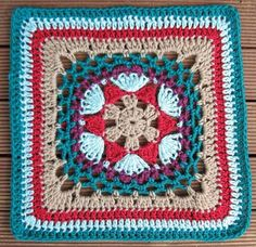 Free pattern is at: http://stramenda.com/2010/01/15/impossible-hexagon-12-inch-afghan-granny-square.html