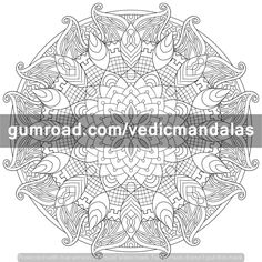 Next weeks Mandala is going to be super intricate so get out your gel pens and fine tip markers.  To get these and more weekly free mandalas, make sure to subscribe at this link. gum.co/freecoloring