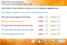 Help children learn about verbs with this free interactive super challenge game linked to the Oxford Primary Grammar, Punctuation and Spelling Dictionary. You can find out more about this dictionary at: https://global.oup.com/education/product/9780192734211/