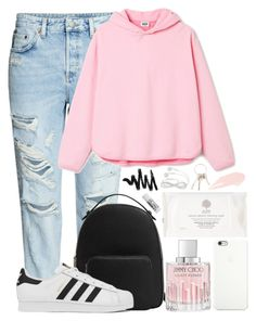 """#28"" by oneandonlyfashion ❤ liked on Polyvore featuring H&M, MANGO, Jimmy Choo, Black Apple, Givenchy, NARS Cosmetics, L:A Bruket and adidas"