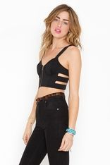 Black Control Bustier from #NastyGal. #Fashion #Trend
