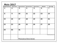 Livre! Calendários para maio 2017 para imprimir
