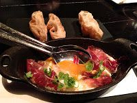 Jamón Ibérico with Fried Egg @ The Bazaar, Los Angeles/passioneats: Sunshine, Hipness, and Plenty of Uni