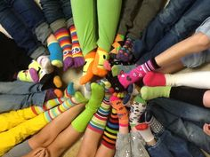 Crazy Sock DAY! We are going to sock it to the MCT! Crazy Socks, Leg Warmers, Tights, Upper Elementary, Teaching, Leg Warmers Outfit, Navy Tights, Secondary School, Panty Hose