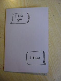 i love you, i know, star wars quote love, valentines hand made greetings cards. £3.00, via Etsy.