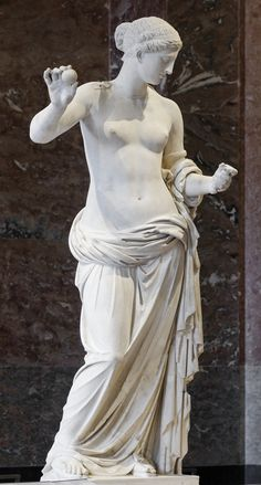Statue of Aphrodite, known as the Venus of Arles. Hymettus marble, Roman artwork, imperial period, end of the 1st century BC.  Courtesy & currently located at the Louvre, France. Photo taken by Marie-Lan Nguyen