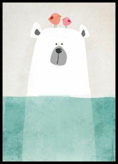 Bear Nursery art-Modern nursery-illustration for baby room-black and white nursery-Nursery art and decor-Bear art Art Wall Kids, Nursery Wall Art, Kid Art, Bear Nursery, Canvas Art Prints, Canvas Wall Art, Framing Canvas Art, Art D'ours, Winter Thema