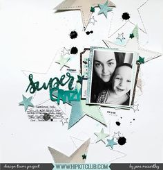 Designer @janammcc also got to work with the sketch this week and created this beautiful starry layout using the September 2017 Hip Kits!