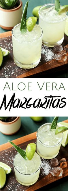Aloe Vera Margaritas | wickedspatula.com