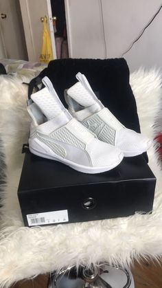 025069bb4a2 Puma Rihanna Fenty Trainer White Sz 7  fashion  clothing  shoes   accessories