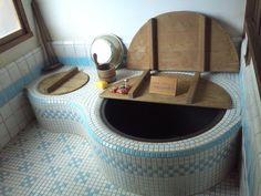 The bath in a full-scale model of the house from My Neighbor Totoro, built for the World's Fair in Nagoya in 2005 (which I somehow missed even though I was at that World's Fair).