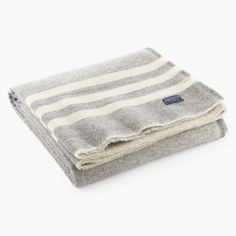 Trapper Wool Throw - Gray/Natural